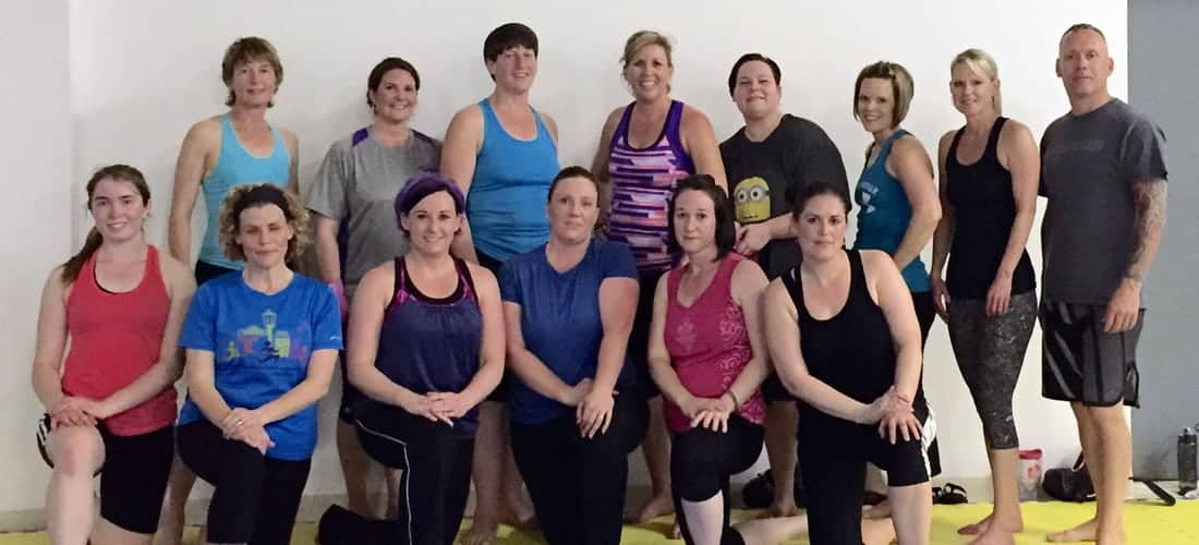 Ladies Kickboxing Class Photo